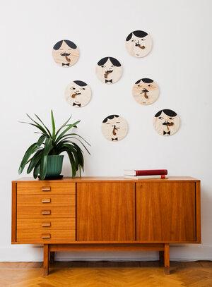 Wall Clock Monsieur